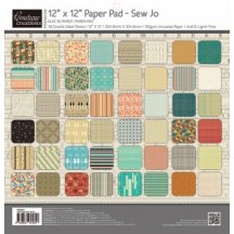 "Couture Creations 12""x12"" Sew Jo Paper Pad 48 double-sided sheets"