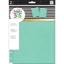 Me & My Big Ideas Create 365 CLASSIC Happy Planner Snap-In Cover Turquoise/Gold Dot COLC-04