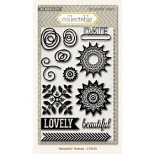 My Mind's Eye Collectable Remarkable 'Beautiful' Clear Stamp Set CTB174