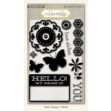 My Mind's Eye Collectable Memorable 'Hello' Clear Stamp Set CTB144