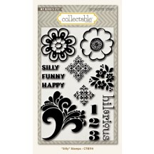 My Mind's Eye Collectable Notable 'Silly' Clear Stamp Set CTB114