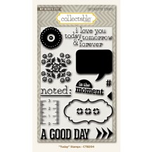 My Mind's Eye Collectable Unforgettable 'Today' Clear Stamp Set CTB204