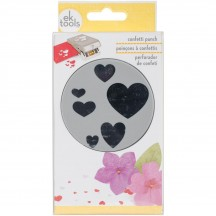 EK Success Confetti Heart Large Stackable Punch 54-30281