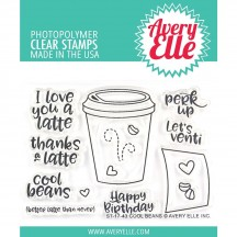 Avery Elle Cool Beans Coffee Cup Clear Stamps ST-17-43