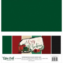 "Echo Park A Cozy Christmas 12""x12"" Solids Paper Kit ACC189015"
