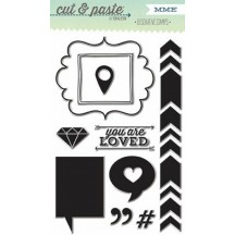 My Mind's Eye Cut & Paste Adorbs 'Loved' Clear Stamp Set CP1018