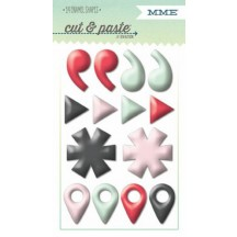 """My Mind's Eye Cut & Paste Flair """"Small"""" Enamel Shapes CP1069"""