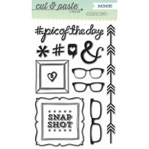 My Mind's Eye Cut & Paste Flair 'Snapshots' Clear Stamp Set CP1078