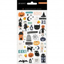 Crate Paper Hey Pumpkin Halloween Puffy Icon Stickers 350888