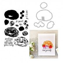 Hero Arts Color Layering Croissant Clear Stamp & Die Set