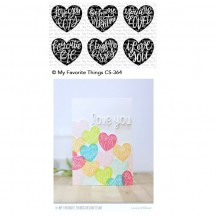 My Favorite Things Heart Art Clear Stamps CS-364