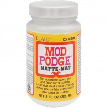 Mod Podge Paper Original Matte Waterbase Sealer, Glue And Finish - 8oz
