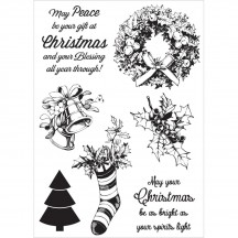 Kaisercraft Silent Night Clear Christmas Stamp Set CS271