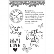 Kaisercraft P.S. I Love You Clear Stamp Set CS277