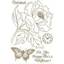 "Marion Smith Designs Curious 4""x6"" Clear Stamp Set"