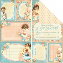 "Graphic 45 Precious Memories Cutie Pie Double-sided 12""x12"" Open Cardstock 4501087"
