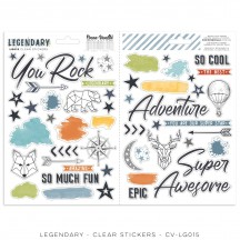 Cocoa Vanilla Studio Legendary Clear Stickers LG015