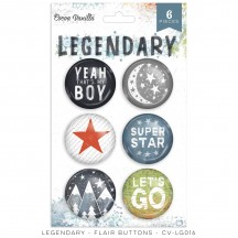 Cocoa Vanilla Studio Legendary Flair Buttons LG0156
