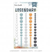 Cocoa Vanilla Studio Legendary Enamel Dots white blue grey orange LG017