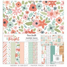 "Cocoa Vanilla Studio Merry & Bright 12""x12"" Collection Kit MB010"