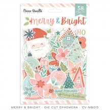 Cocoa Vanilla Studio Merry & Bright Die-Cut Cardstock Ephemera MB013