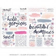 Cocoa Vanilla Studio Midnight Clear Stickers MN017