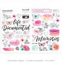 Cocoa Vanilla Studio Unforgettable Clear Stickers UF015