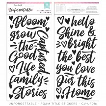 Cocoa Vanilla Studio Unforgettable Foam Title Stickers UF016