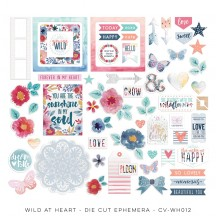 Cocoa Vanilla Studio Wild at Heart Die-Cut Cardstock Ephemera WH012