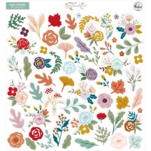 Pinkfresh Studio Days of Splendor Die-Cut Cardstock Floral Ephemera Pack PFDA600520