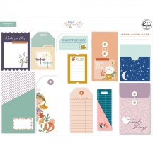 Pinkfresh Studio Days of Splendor Journaling Bits Stationery Ephemera Pack PFDA600820