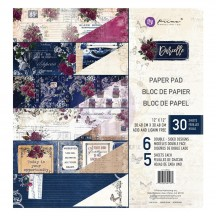 "Prima Darcelle 12""x12"" Double-Sided Paper Pad 24 sheets 641962"