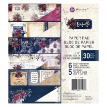 "Prima Darcelle 6""x6"" Double-Sided Paper Pad 30 sheets 641979"