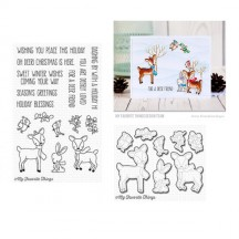 My Favorite Things Dashing Deer Clear Christmas Stamp & Cutting Die Set