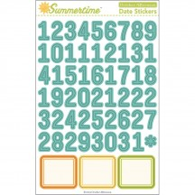 October Afternoon Summertime Date Stickers SS-1314
