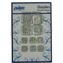 Creative Expressions Dazzlers - Assorted Squares - 10 pieces