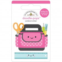 Doodlebug Cute & Crafty Craft Caddy Doodle-Pops Dimensional Stickers 7255