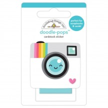 Doodlebug Cute & Crafty Oh Snap Doodle-Pops Dimensional Stickers 7261