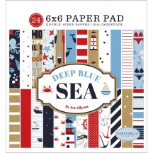 "Carta Bella Deep Blue Sea 6""x6"" Double-Sided Paper Pad DB102023"