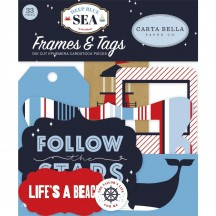 Carta Bella Deep Blue Sea Tags & Frames Ephemera Die Cut Cardstock Pieces DB102025