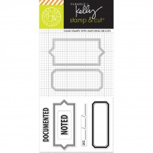 Hero Arts Clearly Kelly Documented Stamp & Cuts Clear Stamp & Universal Cutting Die Set DC145