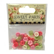 Dovecraft Sweet Paris 60 Shaped Buttons - DCBN019