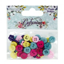 Dovecraft Bohemian 60 Shaped Buttons - DCBTN002