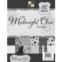 "DCWV Midnight Chic Stack 8.5"" x 11"" - 180 sheets - PS-004-00023"