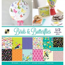 "DCWV Birds & Butterflies Premium Stack 12""x12"" - 48 sheets PS-002-00011"