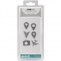 Kaisercraft Geo Tags Metal Universal Cutting Dies DD108