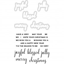 Kaisercraft Dies & Stamps - Christmas Greeting DD986
