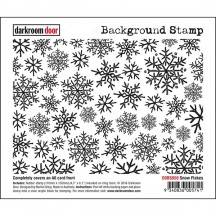 Darkroom Door Rubber Background Stamp - Snowflakes DDBS058