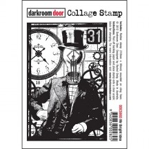 Darkroom Door Mr Bright Idea Cling Mounted Rubber Collage Stamp DDCS003