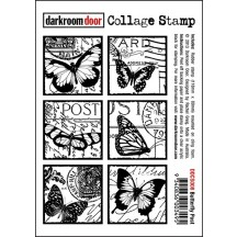 Darkroom Door Butterfly Post Cling Foam Mounted Rubber Collage Stamp - DDCS008